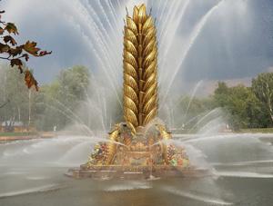 На ВДНХ реставрирован фонтан «Золотой колос»