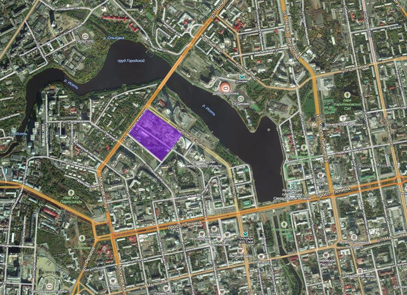 Ситуационный план конкурсной территории многофункционального городского центра «Екатеринбург-Сити»