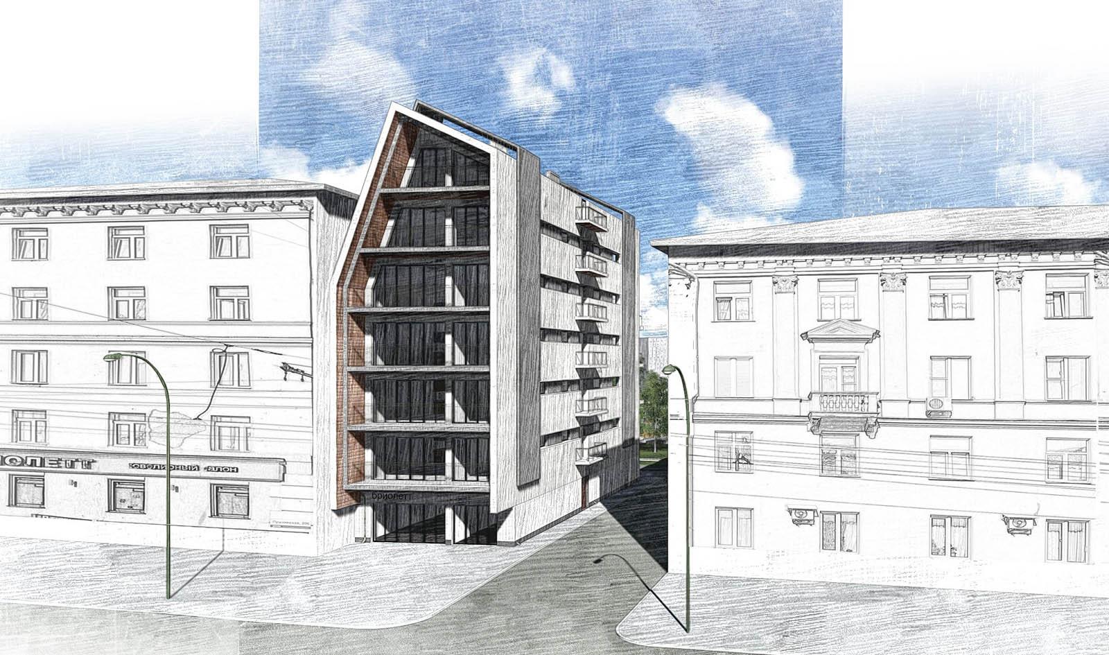 Многоквартирный жилой дом Дом вставка Архитектура и  Многоквартирный жилой Дом вставка Курсовой проект ИжГТУ им М