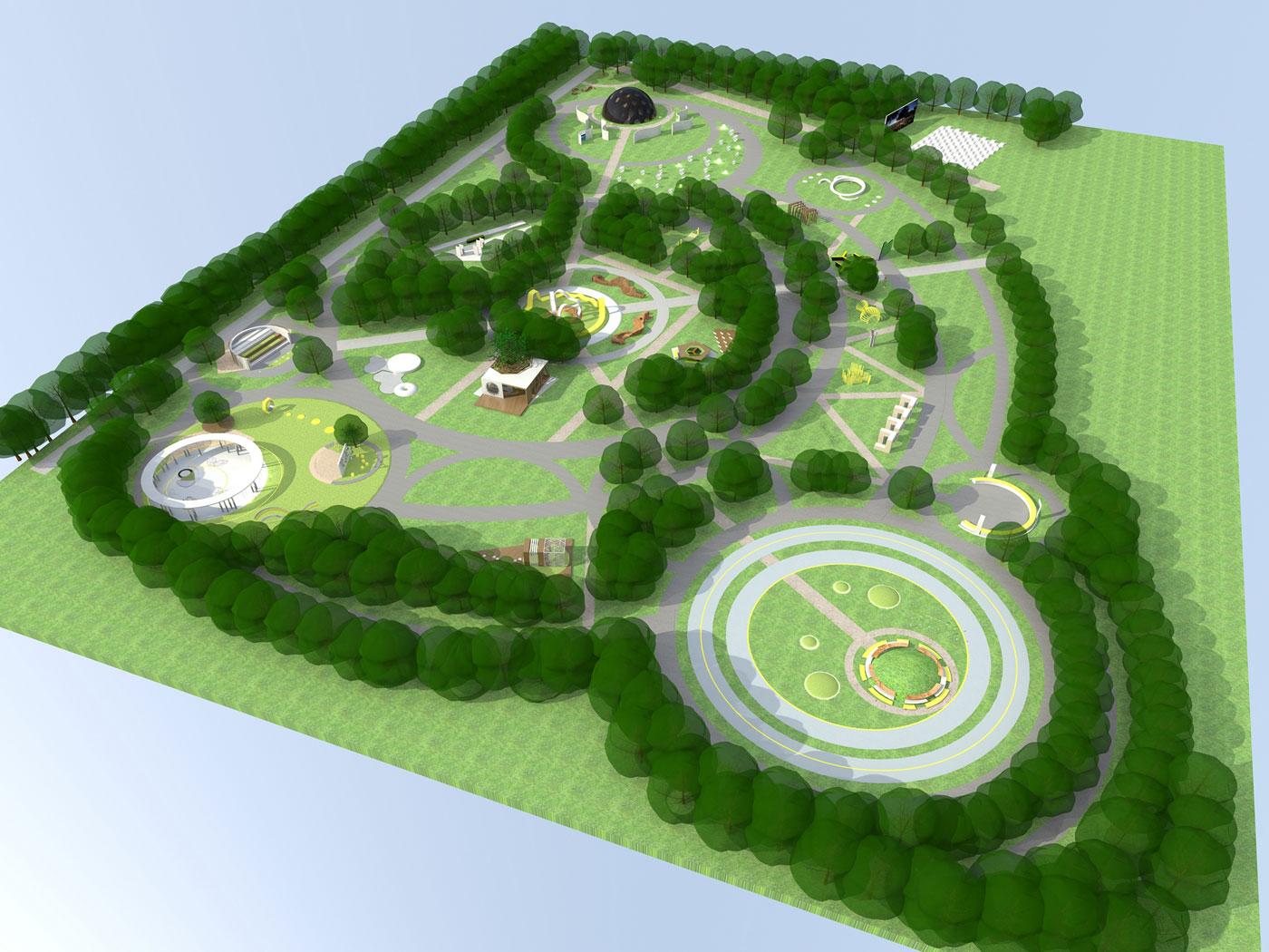 Курсовая работа озеленение и благоустройство территории 3618