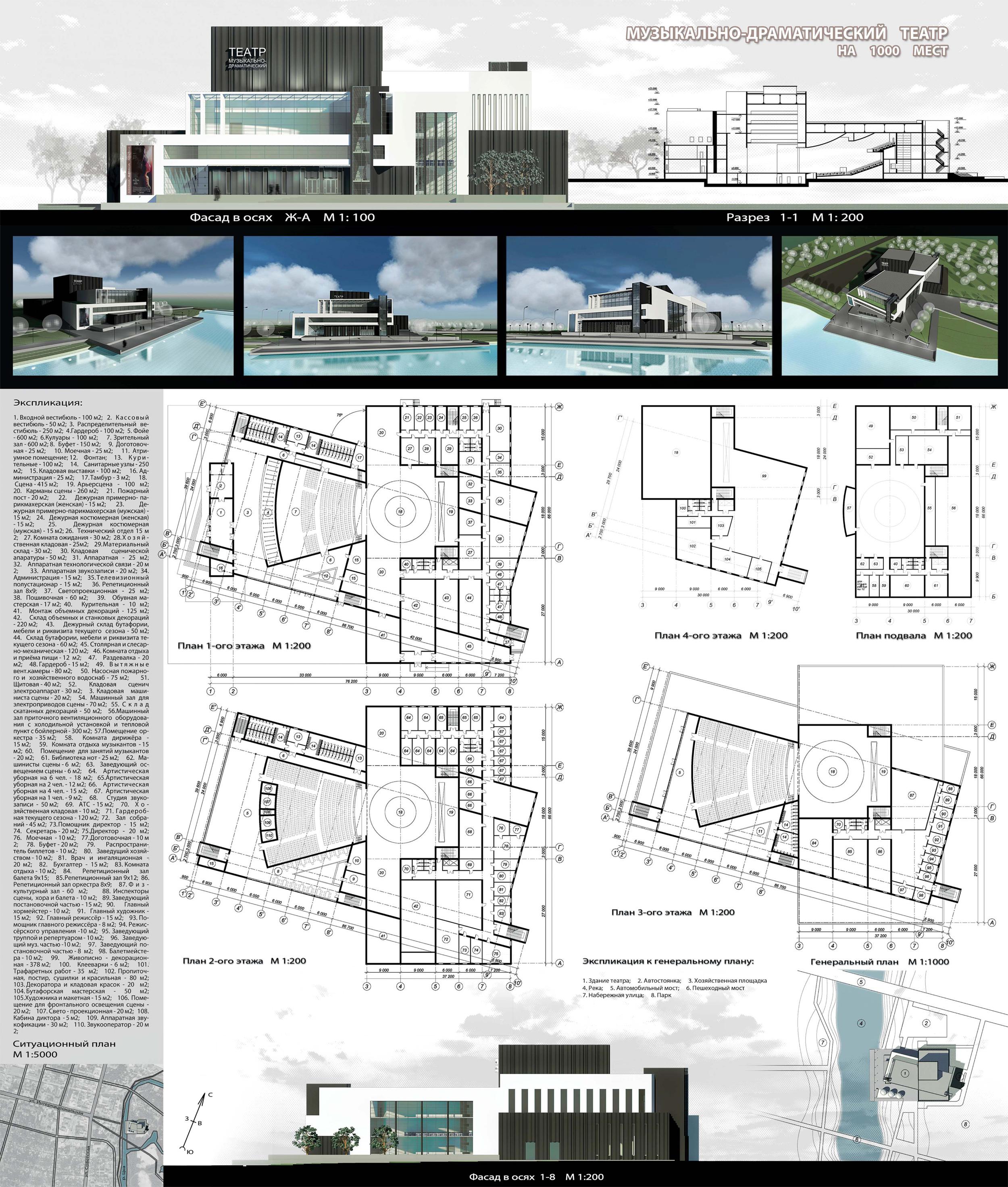 Курсовой проект page Архитектура и проектирование  Музыкально драматический театр на 1000 мест Проект