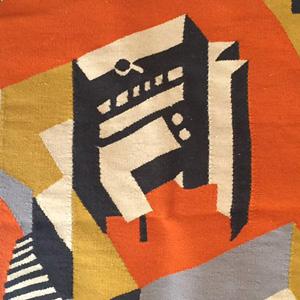 Ковер «Ячейка F» от дизайн-студии Baklazanas по мотивам архитектуры легендарного Дома Наркомфина