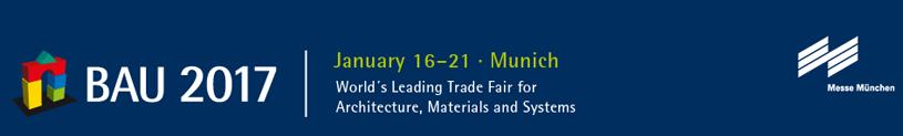 Ведущая международная выставка архитектуры, строительных материалов и систем BAU 2017