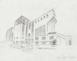 Рисуй авангард. Экскурсия в ДК Русакова с мастер-классом по скетчингу