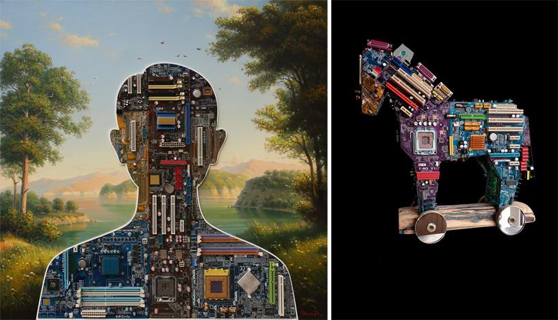 «Искушение технологией»: выставка Дамира Кривенко