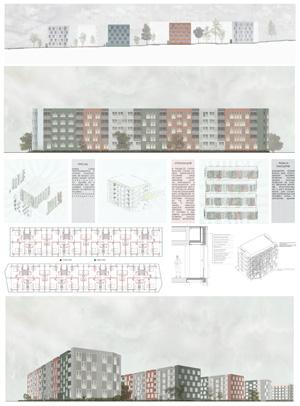 Проект капитального ремонта фасадов жилых домов серии 1-335. МАРХИ