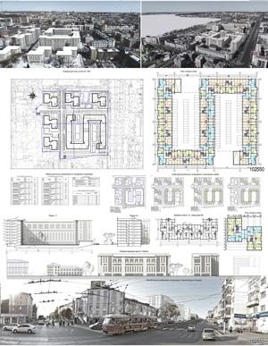 Проект жилого комплекса «Красная площадь» в Ижевске. ООО ПИ «Венец»