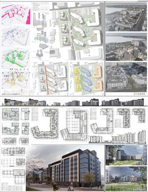 Проект жилого комплекса «Красная площадь» в Ижевске. ООО «АРХ+»