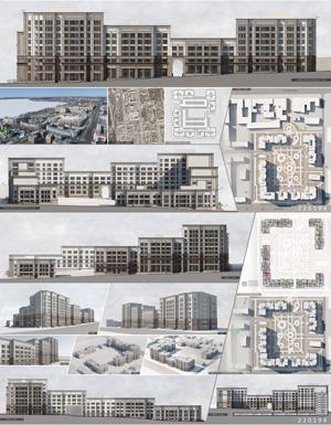 Проект жилого комплекса «Красная площадь» в Ижевске. ООО «АСН»