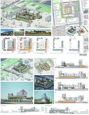 Проект жилого комплекса «Красная площадь» в Ижевске. ООО «ГАБР»