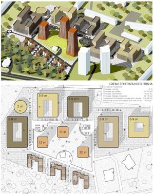 Проект жилого комплекса «Покровский» в Ижевске. Бюро АА+ (Москва)