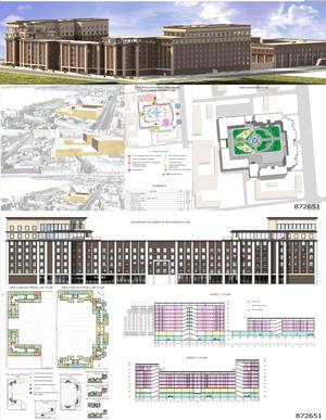 Проект жилого комплекса «Красная площадь» в Ижевске. КГАСУ
