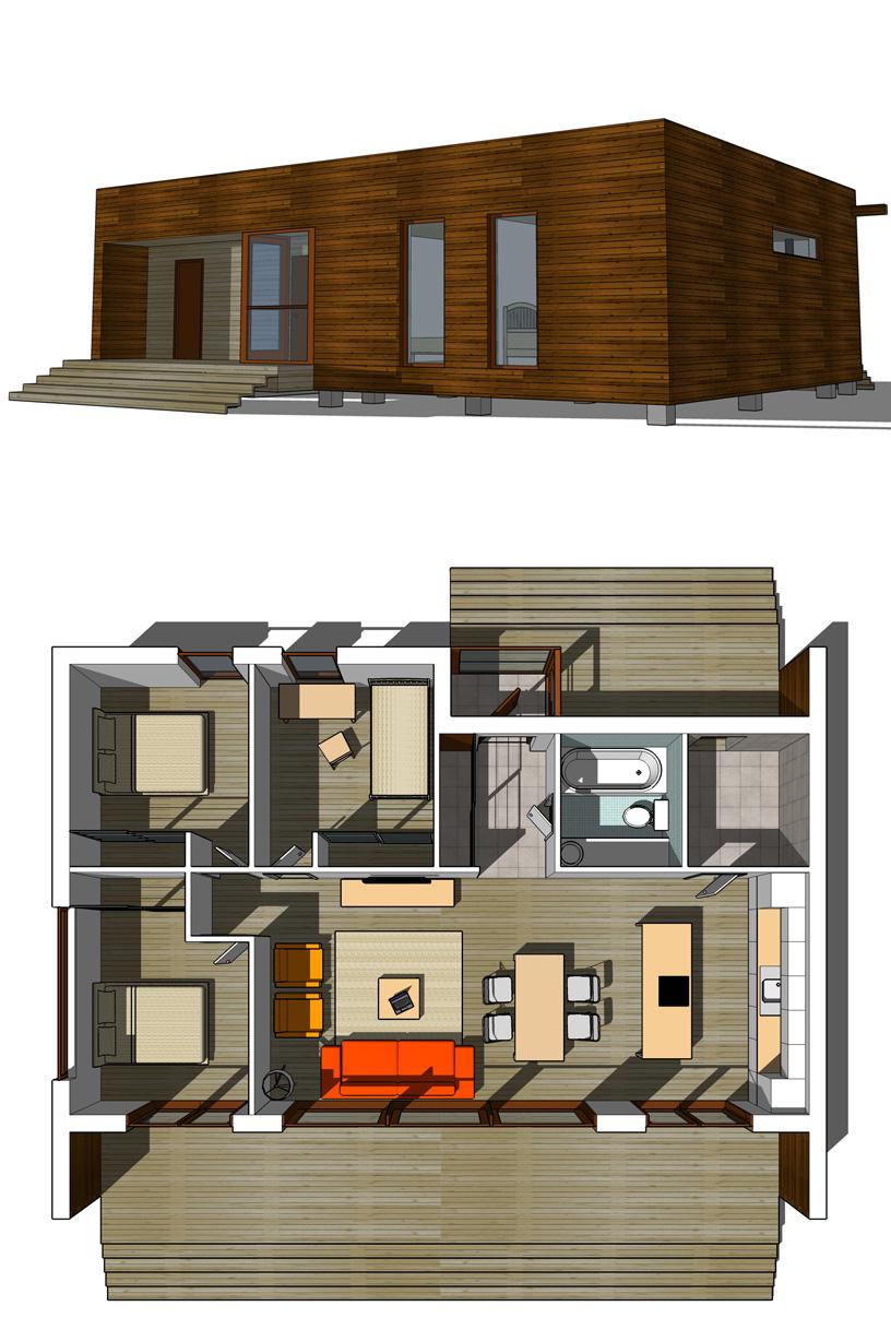 Проект одноквартирного дома для молодой семьи. АФ-студия. Архитектор: Дмитрий Антонов
