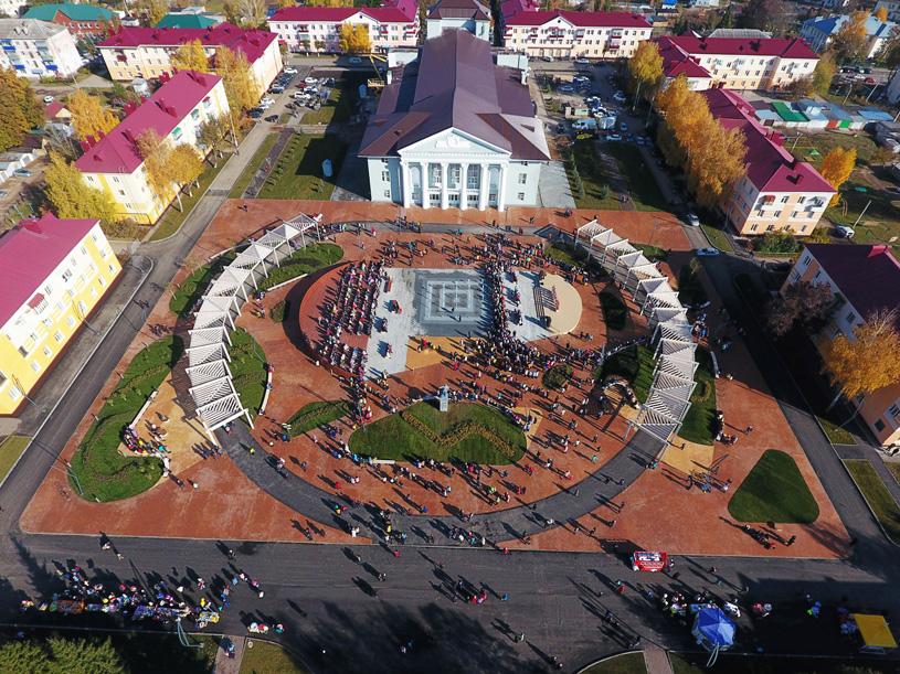 Центральная площадь, Альметьевск, Татарстан, РФ. Программа развития общественных пространств