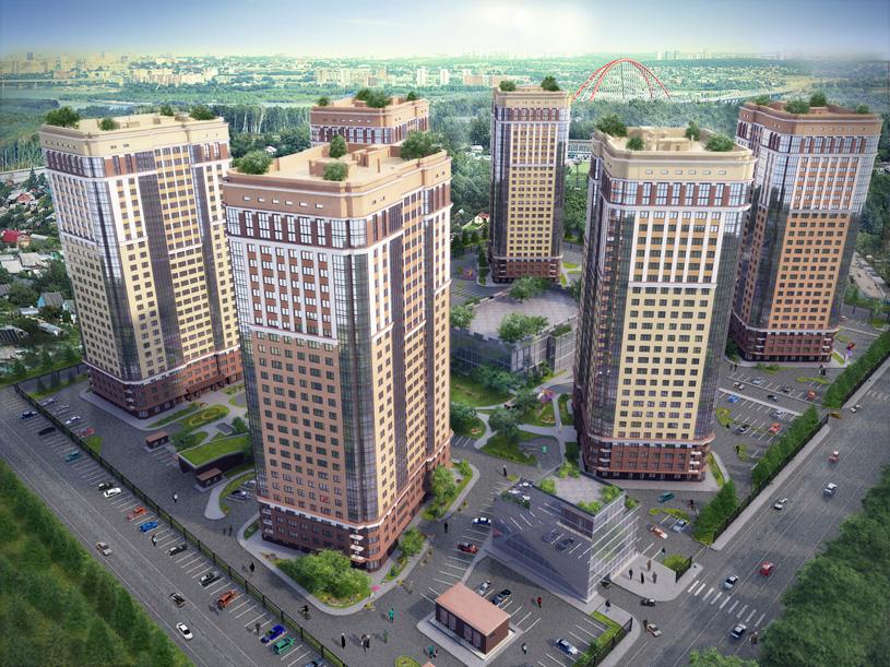 Проект жилого комплекса «Шесть Звезд» по ул. Аникина в Новосибирске. Проектная организация: «АкадемСтрой»