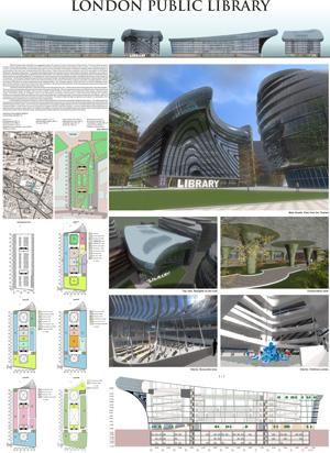 Конкурсный проект на здание Национальной библиотеки в Лондоне