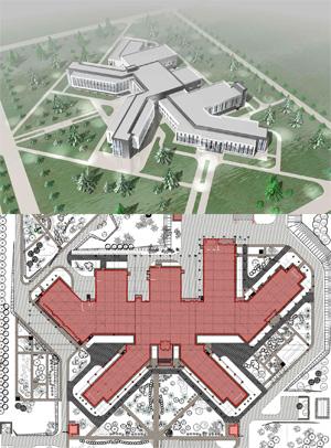 Проект центральной районной больницы на 80 коек. АО «ГИПРОЗДРАВ»