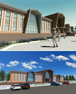 Эскизный проект сельского дома культуры в Ханты-Мансийском автономном округе. Проектная организация: «АкадемСтрой»
