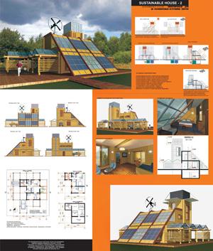 Экоустойчивый дом на восполняемых источниках энергии Sustanable House 2
