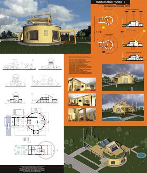 Экоустойчивый дом на восполняемых источниках энергии Sustanable House 7