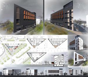 Здание общественного центра «Три угла». Волгоград