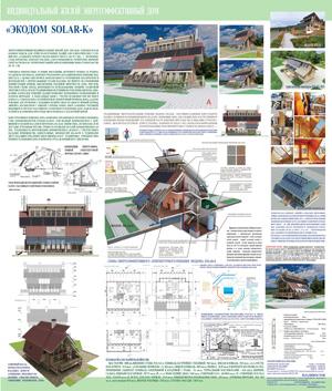 Индивидуальный жилой энергоэффективный каркасный дом для Дальнего Востока «Экодом -SOLAR-K». Владивосток