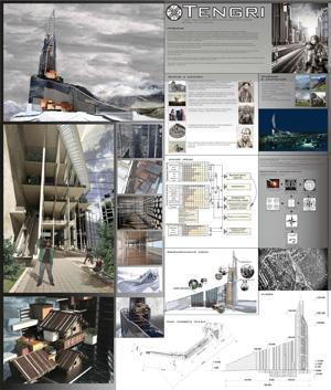 """Концепция многофункционального высотного сооружения """"Tengri"""""""