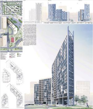 Проект многоэтажного жилого дома в Томске