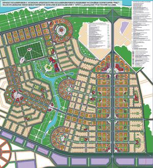 Эскиз архитектурно-планировочного решения застройки территории «РЖС» в Нижегородской области