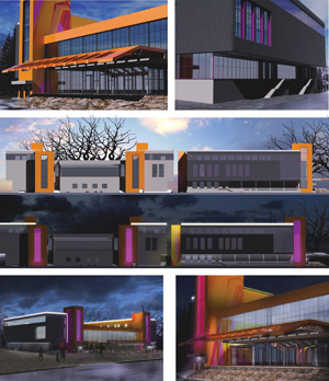 Архитектурное решение оболочки ДК «Академия» в новосибирском Академгородке. «Тильке и Партнеры-Сибирь»