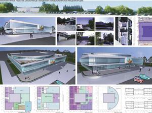 Проект реконструкции ДК «Академия» в новосибирском Академгородке. Архитектор Дарья Авксентюк-Каменская. Вариант II
