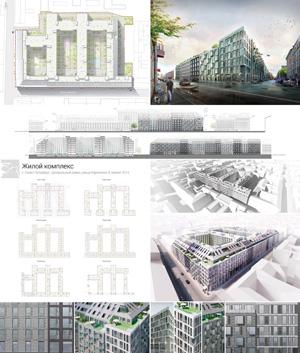 Проект жилого комплекса по ул. Короленко в Санкт-Петербурге