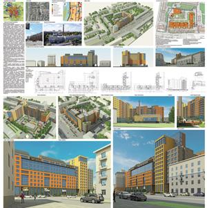 Жилой комплекс со встроенными офисными помещениями, спортивно-оздоровительным блоком и подземной автопарковкой по проспекту Маркса в Омске