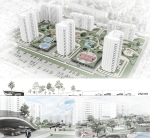 Проект благоустройства дворового пространства и прилегающей территории ЖК «Самоцветы Востока» в Ижевске. Prysm Group