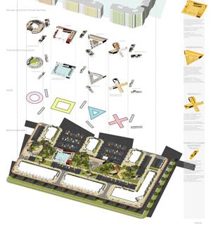 Проект благоустройства дворового пространства и прилегающей территории ЖК «Самоцветы Востока» в Ижевске. АБ SPEECH
