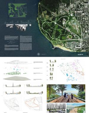 Эскизный проект территории парка им. С.М. Кирова в Ижевске. Consortium