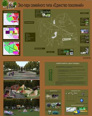 Эскизный проект территории парка им. С.М. Кирова в Ижевске. Игуменова Н.А.