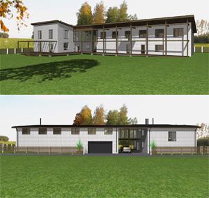 Проект одноквартирного дома с оздоровительно-досуговым комплексом в п. «Классика»