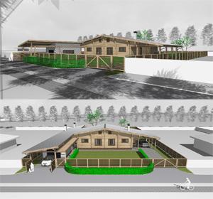 Проект одноквартирного дома с банным комплексом в п. Волчиха