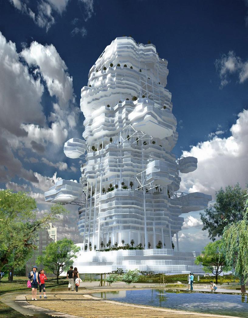 Многофункциональный жилой комплекс «Дом-облако». Shokhan Mataibekov architects. Архитектор: Матайбеков Ш.У.