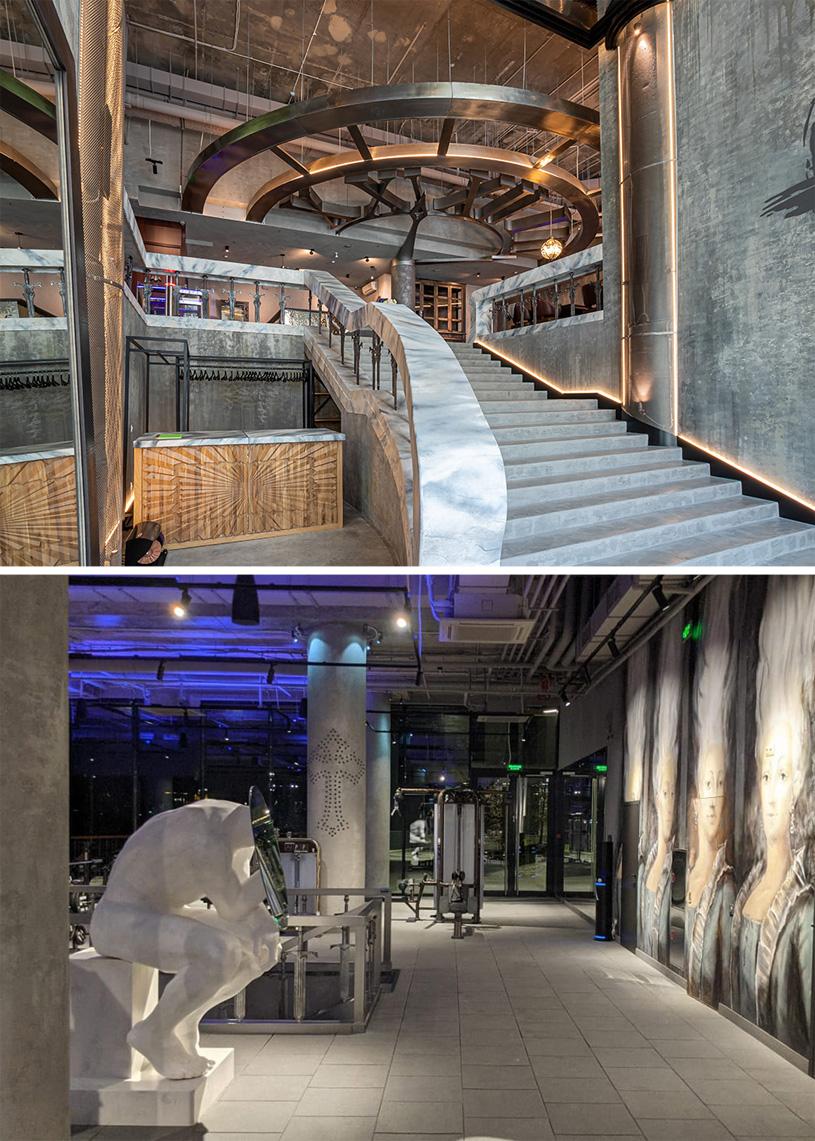 Дизайн интерьеров фитнес-клуба комплекса «Воробьев дом». Проектная организация: М.К.3.