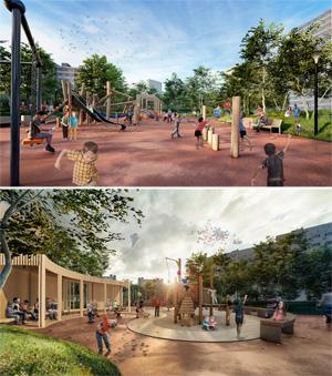 Проект благоустройства придомовой территории «Двор с холмом»