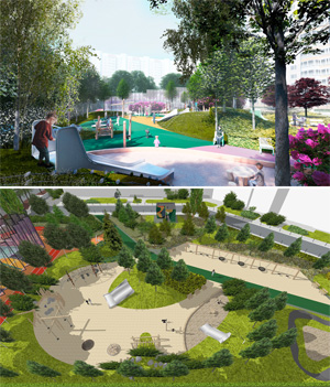 Проект благоустройства придомовой территории «Васильцовский цвет»