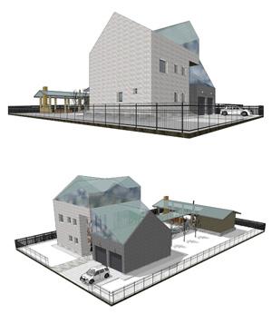 Проект дома для молодой семьи. Архитектурно-художественная мастерская «Красная горка». Архитектор: Арбатский Г.П. Новосибирск