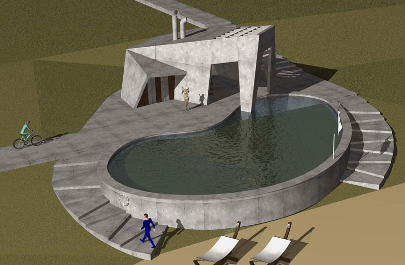 Проект кафе-бара с бассейном в зоне отдыха «Приморье». Проектная мастерская «АПМ-Сайт»
