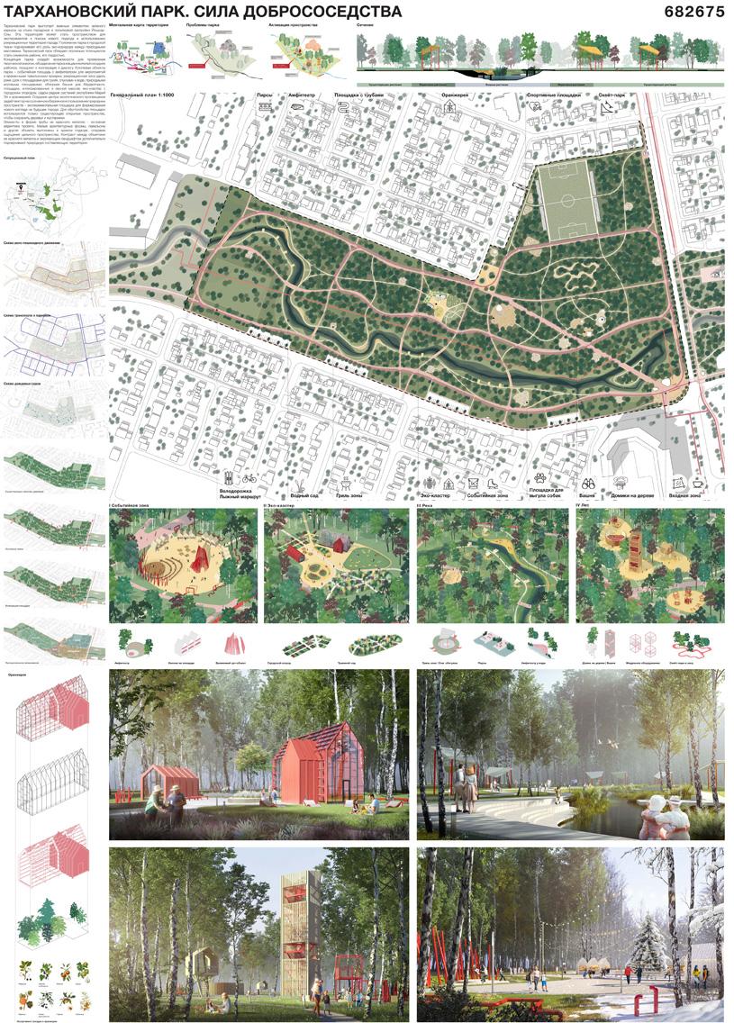 Концепция благоустройства парка «Тарханово» в Йошкар-Оле. Студия TOBE architects
