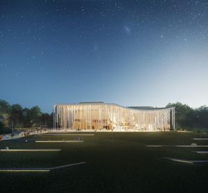 Проект концертного зала Tauras в Вильнюсе | Orange Architects