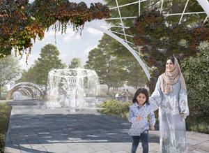 Территория городского сада в Буйнакске. Консорциум под лидерством ООО «МЭГЛИ Проект»