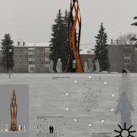 Эскизный проект стелы «Город трудовой доблести» в Ижевске. Стрельцова Лилия Александровна (Азов, Ростовская область)