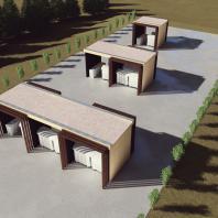 Конкурсный проект пункта приема вторсырья и модульной контейнерной площадки. Автор: Poting Nicolae Gheorghe (Румыния)